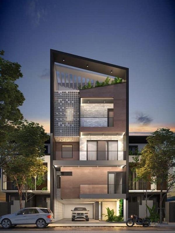 Những mẫu nhà phố đẹp như mơ, ai ngắm cũng phải trầm trồ vì thiết kế cực độc đáo và hiện đại-7
