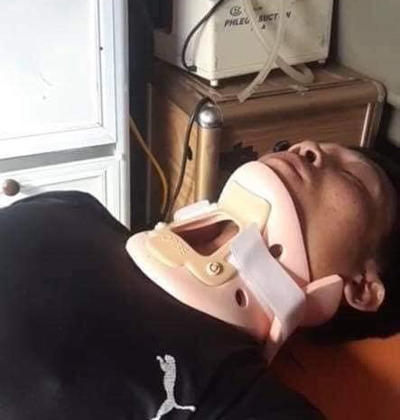 Vợ của tài xế chở hàng cứu trợ miền Trung gặp tai nạn lật xe: Anh bị chấn thương sọ não, mê man không nhận ra ai-3