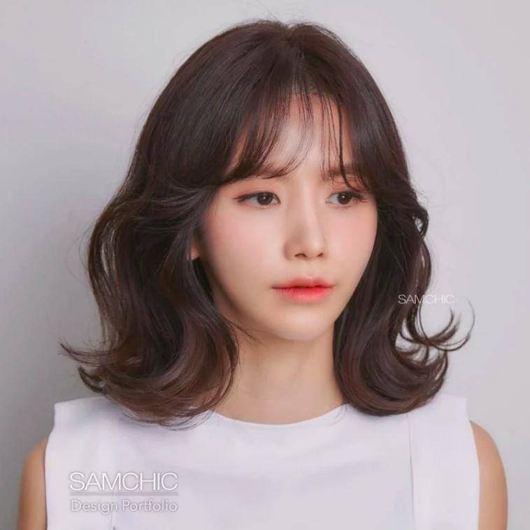 Kiểu tóc mái dành cho những nàng có lông mày thưa thớt, ngắn một mẩu-6