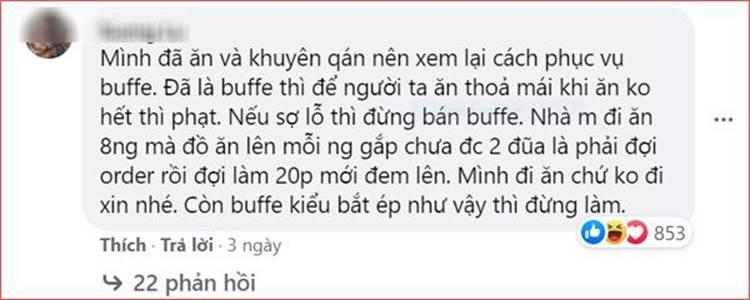 Nhà hàng buffet ở Đà Nẵng bị dân mạng tấn công sau loạt lùm xùm phạt khách 200k vì để thừa 2.9 lạng rau-4