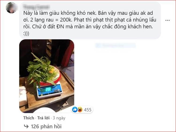 Nhà hàng buffet ở Đà Nẵng bị dân mạng tấn công sau loạt lùm xùm phạt khách 200k vì để thừa 2.9 lạng rau-5