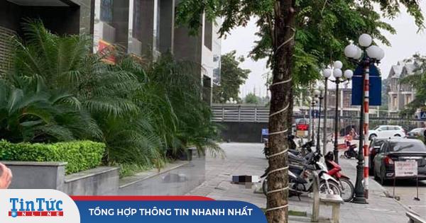 Phát hiện người phụ nữ tử vong dưới chân tòa nhà chung cư ở Hà Nội