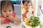 Không hổ danh 'thánh ăn', con gái ca sĩ Thanh Thảo mới hơn 2 tuổi đã ăn được món mà nhiều người thấy sợ