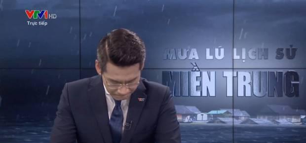 BTV bật khóc khi đang dẫn trực tiếp về lũ lụt miền Trung trên VTV là ai?-1
