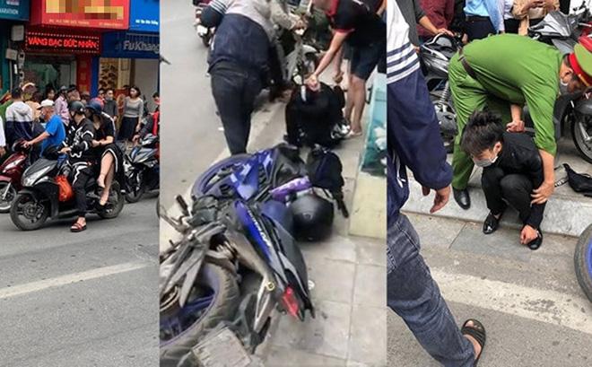 Nam thanh niên táo tợn cầm dao lao vào cướp tiệm vàng giữa ban ngày ở Hà Nội-1