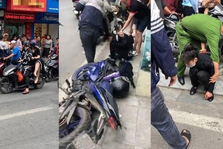 Nam thanh niên táo tợn cầm dao lao vào cướp tiệm vàng giữa ban ngày ở Hà Nội
