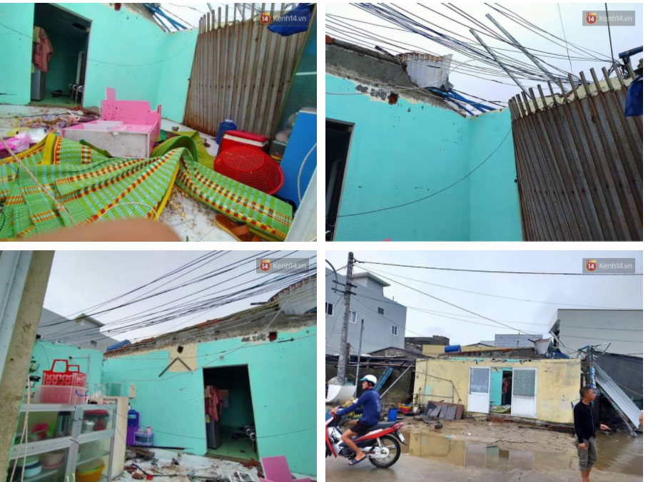 Những hình ảnh đầu tiên tại đảo Lý Sơn khi bão số 9 đi qua: Mọi thứ đều tan hoang, người dân thất thần bên đống đổ nát-1