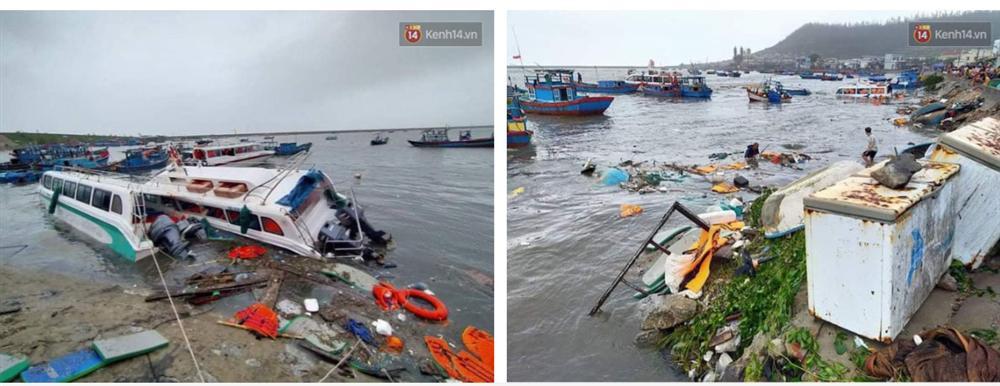 Những hình ảnh đầu tiên tại đảo Lý Sơn khi bão số 9 đi qua: Mọi thứ đều tan hoang, người dân thất thần bên đống đổ nát-3