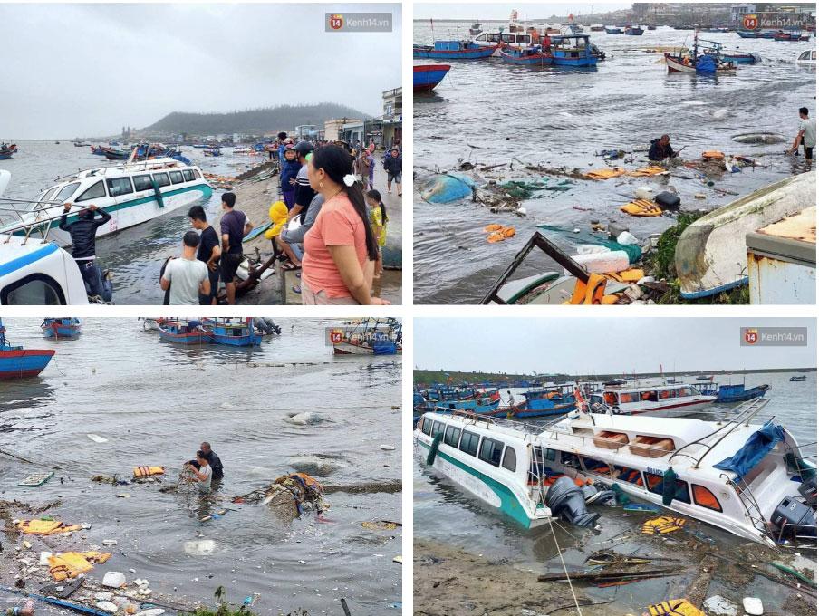 Những hình ảnh đầu tiên tại đảo Lý Sơn khi bão số 9 đi qua: Mọi thứ đều tan hoang, người dân thất thần bên đống đổ nát-4