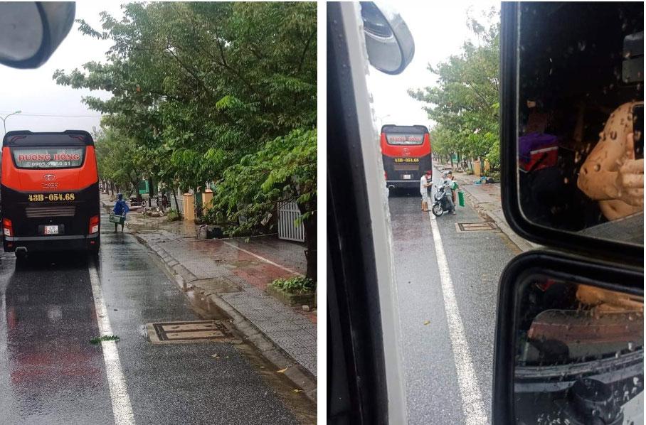 Ấm lòng cảnh người dân Huế dù đang cùng chịu ảnh hưởng bão số 9 vẫn gõ cửa từng chiếc xe xếp hàng trú bão để phát cơm ăn, nước uống miễn phí-2