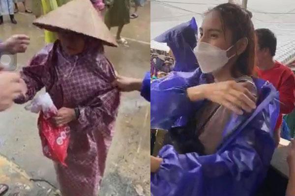 Thủy Tiên tiếp tục ghi điểm với cách xử lý khi một bà cụ đi nhận tiền cứu trợ bị