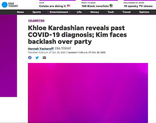 Khloe Kardashian xác nhận nhiễm COVID-19 giữa lúc Kim và gia đình bị chỉ trích vì tiệc tùng giữa mùa dịch-8