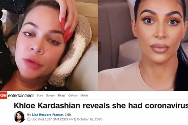 Khloe Kardashian xác nhận nhiễm COVID-19