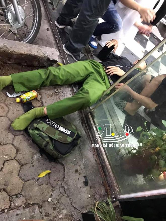 Ô tô tông chiến sĩ công an trọng thương do tài xế đạp nhầm chân phanh thành chân ga-5