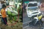 Ô tô tông chiến sĩ công an trọng thương do tài xế đạp nhầm chân phanh thành chân ga