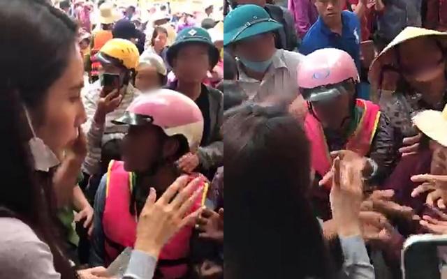 Động thái của Thủy Tiên khi xuất hiện nhóm người dân mất kiểm soát trong điểm phát tiền cứu trợ được dân mạng tán thưởng-1