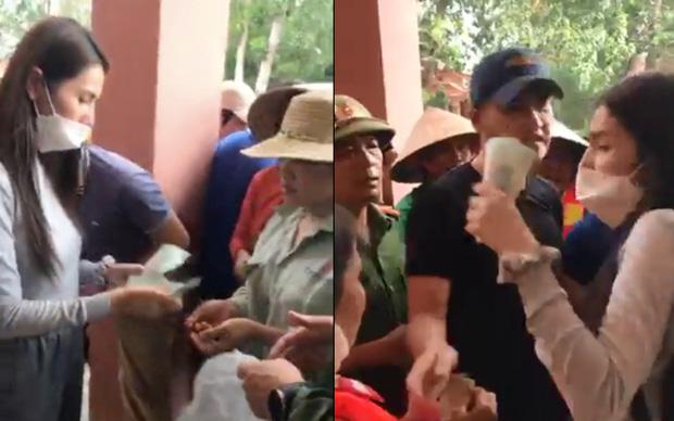 Thuỷ Tiên tuyên bố sẽ thu lại phiếu và không phát tiền cứu trợ vì tình trạng người dân chen lấn hỗn loạn, thiếu an toàn-1