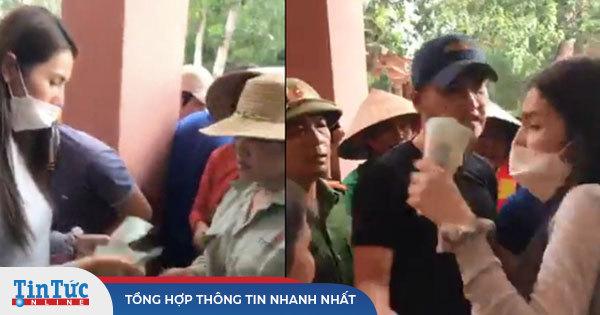 Thuỷ Tiên tuyên bố sẽ thu lại phiếu và không phát tiền cứu trợ vì hỗn loạn