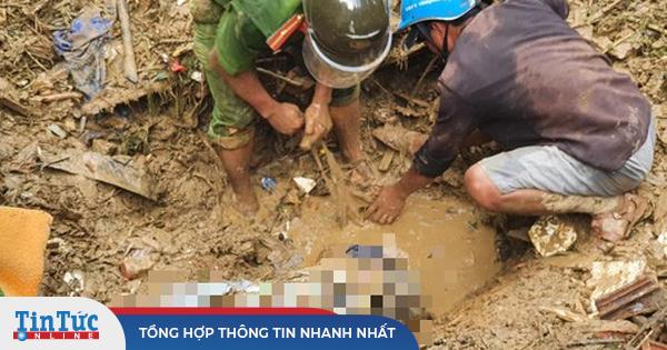 Sạt lở đất ở Quảng Nam: Còn 24 người mất tích, đã tìm thấy 21 thi thể