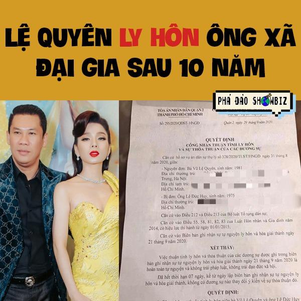 Lệ Quyên chính thức xác nhận ly hôn chồng là ông chủ phòng trà giàu nhất Sài Gòn-1