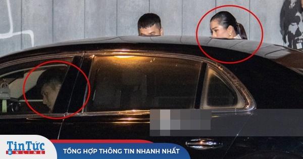 Lâm Bảo Châu ngồi chờ trên ghế lái chở Lệ Quyên ra về