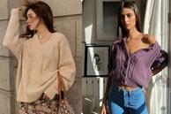 Áo len vặn thừng tái xuất, 'bỏ bùa' gái Hàn đến gái Pháp: Các nàng có ngay 14 set đồ đẹp khỏi bàn với kiểu áo 'thô ráp' này