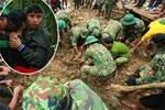 Dân làng khóc nghẹn khi tìm thấy bé trai 10 tháng tuổi dưới lớp bùn đất vụ sạt lở ở Trà Leng