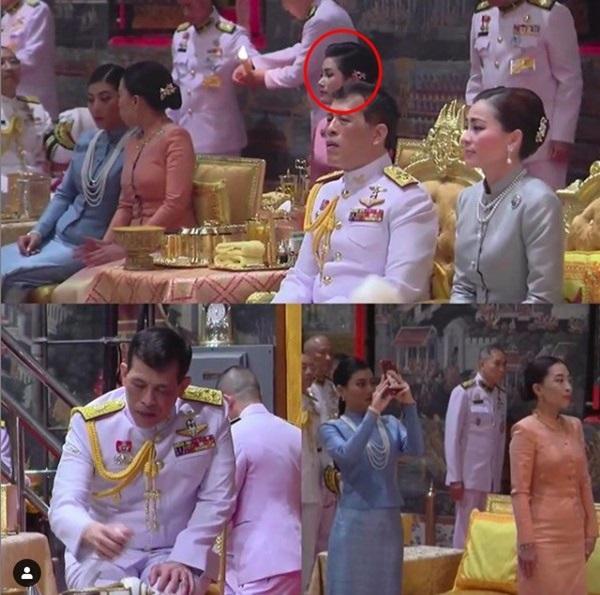 Hoàng hậu Suthida gây chú ý với biểu cảm khác lạ khi Hoàng quý phi Thái Lan quỳ rạp dưới chân Quốc vương-3