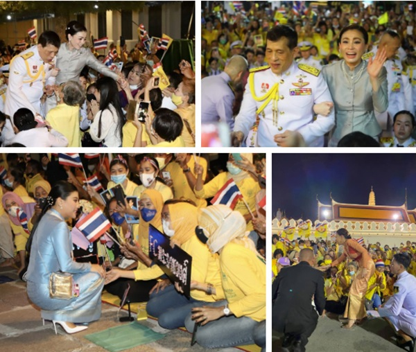 Hoàng hậu Suthida gây chú ý với biểu cảm khác lạ khi Hoàng quý phi Thái Lan quỳ rạp dưới chân Quốc vương-7