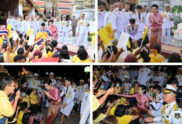 Hoàng hậu Suthida gây chú ý với biểu cảm khác lạ khi Hoàng quý phi Thái Lan quỳ rạp dưới chân Quốc vương-8