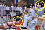 Clip Hoàng hậu Suthida 'ngó lơ' Hoàng quý phi Thái Lan khi chạm mặt 'gây sốt', dân mạng bàn tán về chi tiết trên trang phục của bà