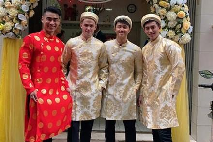 Phát sốt dàn phù rể đẹp như tài tử trong đám cưới soái ca 'Người Ấy Là Ai'
