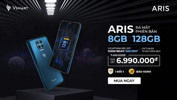 Ra mắt điện thoại Vsmart Aris phiên bản nâng cấp với giá không đổi-1