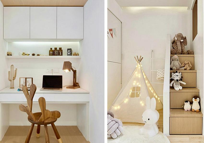 Căn hộ màu trắng chỉ vỏn vẹn 20m² vẫn đủ cho gia đình 6 người nhờ cách bố trí nội thất siêu linh hoạt-11