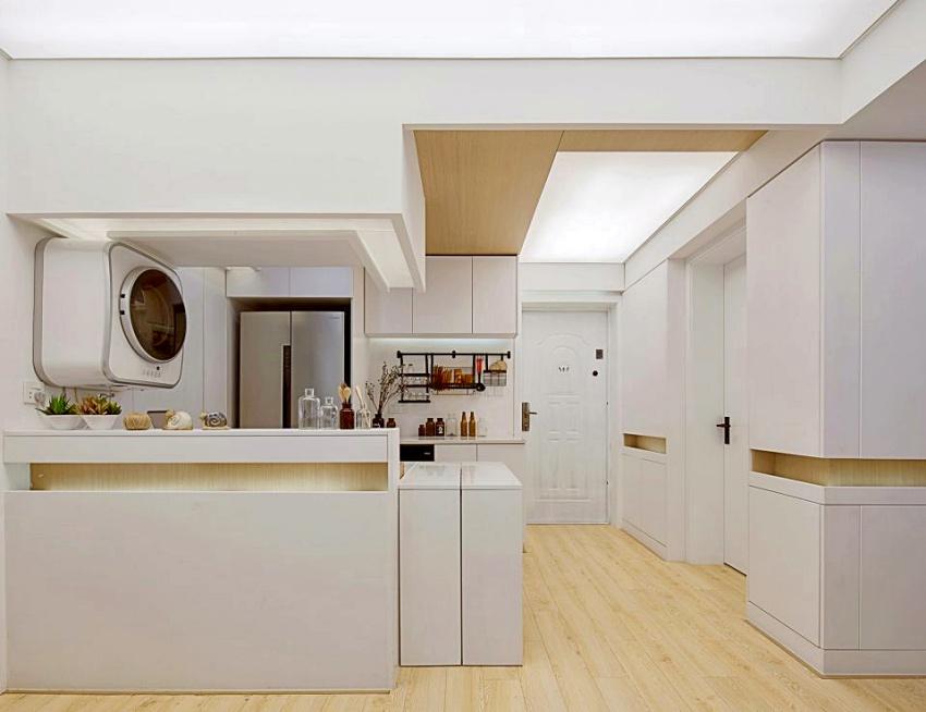 Căn hộ màu trắng chỉ vỏn vẹn 20m² vẫn đủ cho gia đình 6 người nhờ cách bố trí nội thất siêu linh hoạt-5