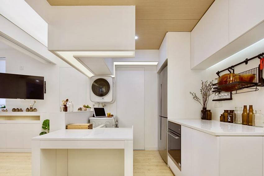 Căn hộ màu trắng chỉ vỏn vẹn 20m² vẫn đủ cho gia đình 6 người nhờ cách bố trí nội thất siêu linh hoạt-7