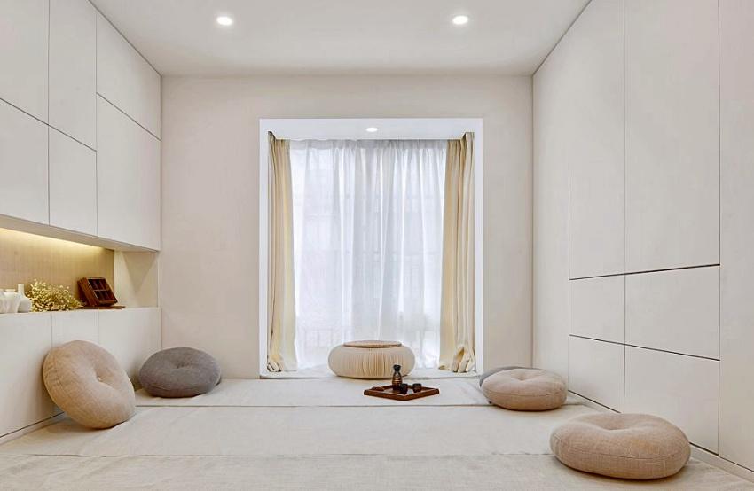Căn hộ màu trắng chỉ vỏn vẹn 20m² vẫn đủ cho gia đình 6 người nhờ cách bố trí nội thất siêu linh hoạt-9