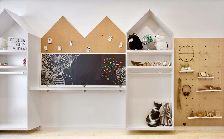 Căn hộ màu trắng chỉ vỏn vẹn 20m² vẫn đủ cho gia đình 6 người nhờ cách bố trí nội thất siêu linh hoạt-12