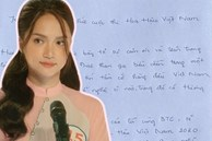 Dân tình chỉ ra lỗi sai nghiêm trọng trong thư tay xin rút khỏi chương trình Hoa hậu Việt Nam 2020 của Hương Giang, đến học sinh lớp 6 cũng không mắc phải
