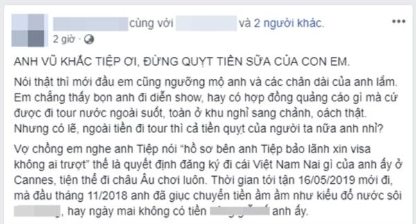 Vụ quản lý Noo Phước Thịnh tố bị quỵt cát-xê: Vũ Khắc Tiệp giải thích do sơ suất, hẹn tuần sau trả hết-4