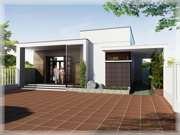 Những mẫu nhà cấp 4 đẹp, phong cách kiến trúc đa dạng ai ngắm cũng mê-8