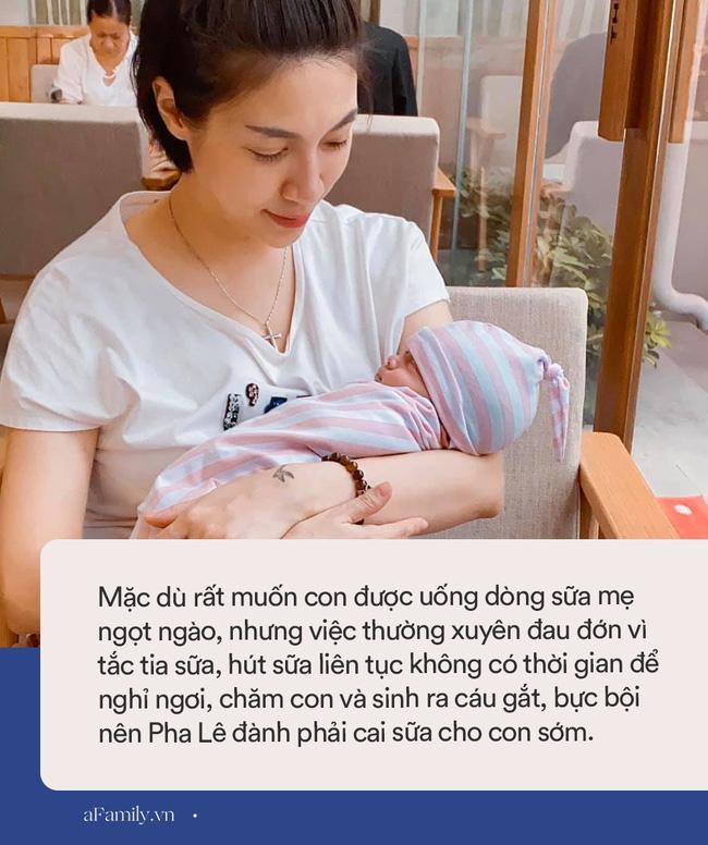 Từng nhiều sữa đến mức hút được 5 lít/ngày, nhưng con chưa tròn tháng Pha Lê đã phải cai sữa cho bé vì lý do đau đớn này-3