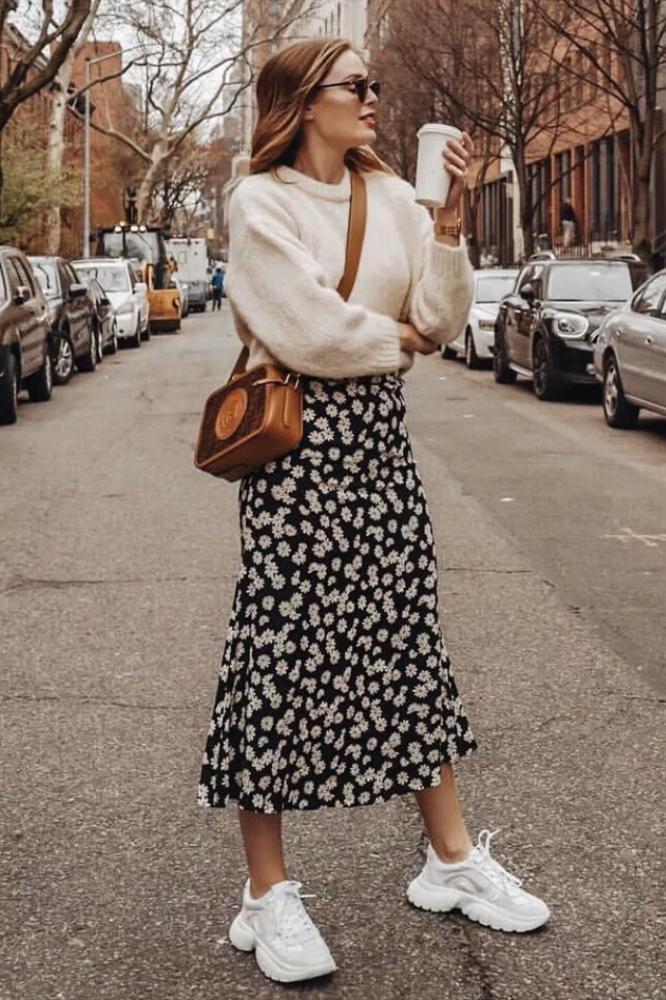 6 cách mix áo len và váy được hội sành mặc chăm áp dụng nhất mùa lạnh-6