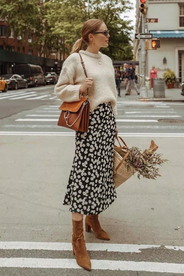 6 cách mix áo len và váy được hội sành mặc chăm áp dụng nhất mùa lạnh-13