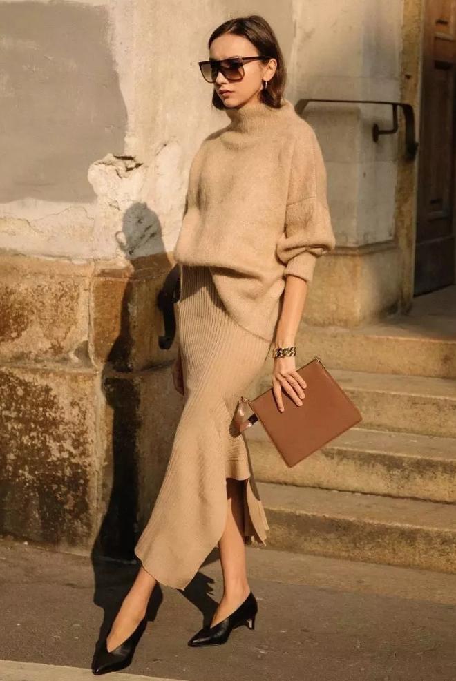 6 cách mix áo len và váy được hội sành mặc chăm áp dụng nhất mùa lạnh-14