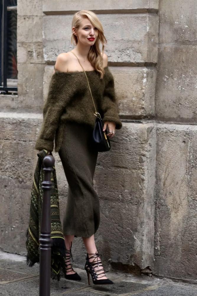 6 cách mix áo len và váy được hội sành mặc chăm áp dụng nhất mùa lạnh-15