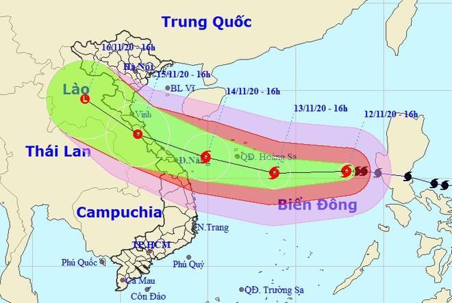 Bão Vamco sẽ đổ bộ khu vực từ Hà Tĩnh đến Thừa Thiên - Huế-1