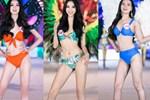 Bỏng mắt clip Top 35 HHVN 2020 trình diễn bikini đúng kiểu Victoria's Secret, vedette Tiểu Vy khoe vòng 1 đồ sộ qua camera thường-10