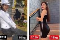 Hội bạn gái cầu thủ Việt Nam bắt trend khoe ảnh 'lột xác': Yến Xuân giảm 10 cân, sexy số 1 làng WAGs