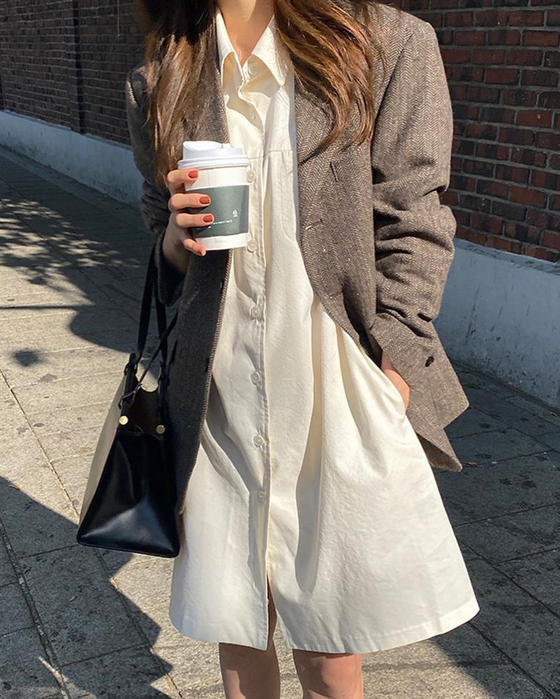 Gái Hàn mặc blazer trông sang chảnh chứ không hề già, các nàng học ngay 10 công thức để có set đồ trendy không cần hỏi-6